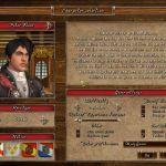 Age of Pirates 2: City of Abandoned Ships Windows  selección de personajes-Dr. Peter Blood sólo se recomienda para los jugadores expertos, introduciendo una trama de comienzo más difícil que los otros personajes seleccionables.