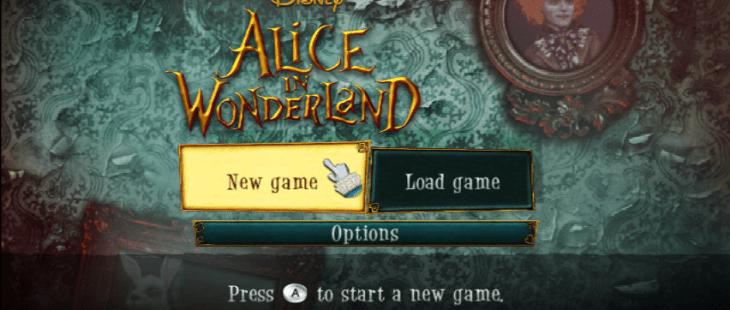 Alice in Wonderland Wii Menú principal