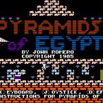 Pyramids of Egypt Apple II Pantalla de título