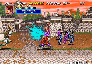 Sengoku 2 Arcade  sangre azul