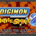 Digimon: Battle Spirit 2 Game Boy Advance  Pantalla de título (Game Boy Advance)