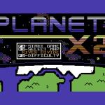 Planet X2 Commodore 64  Pantalla de título con menú.