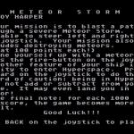 Meteor Storm Atari 8-bit