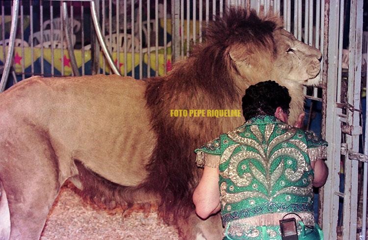 Ángel Cristo y sus leones visitaron varias veces Murcia