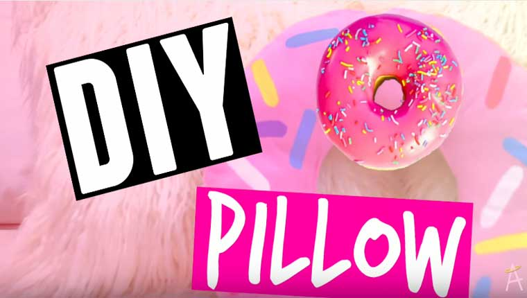 how to make a no sew donut pillow