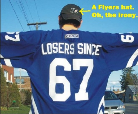 toronto maple leafs losers