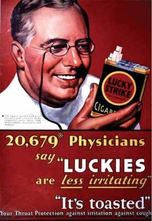 Lucky Strike cigarette ad 1940s