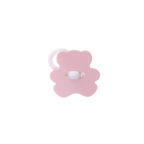 goma de pelo rosa pastel