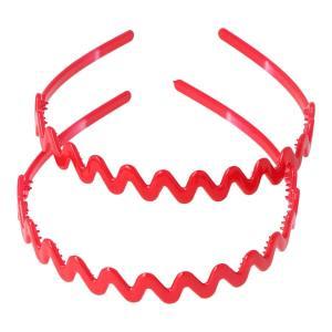 diadema zig zag rojo