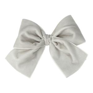 lazo terciopelo gris perla