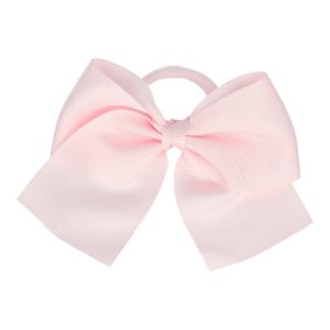 goma de pelo con lazo rosa claro