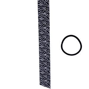 cinta de pelo de cebra con goma