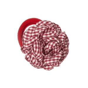 coletero con flor vichy rojo