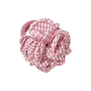 goma de pelo con flor para niñas rosa