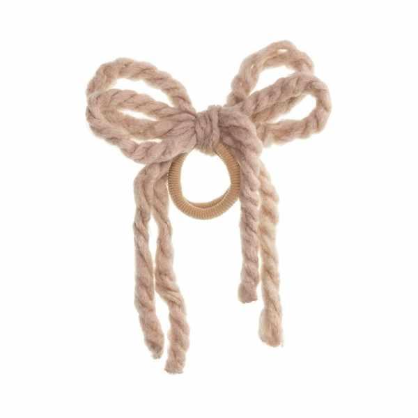 cordones de lana pelo beige