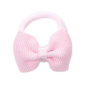 lazo rosa con goma para bebes y niñas