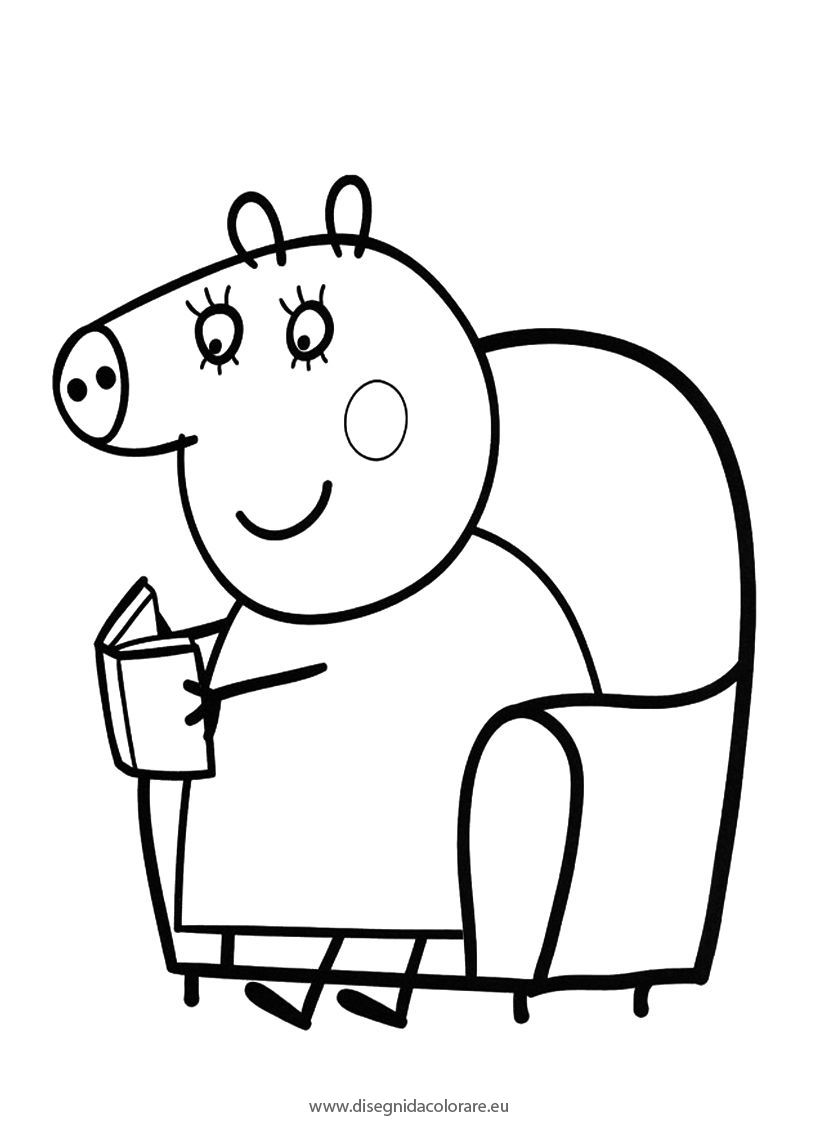 peppa pig da colorare 5 peppa pig coloring pages