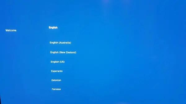 OSMC select language