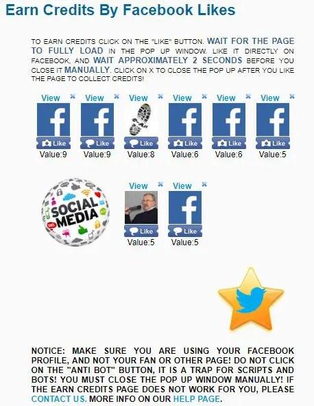 like4like facebook likes earning