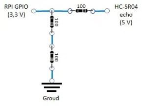 RPI HC-SR04 resistore implementation