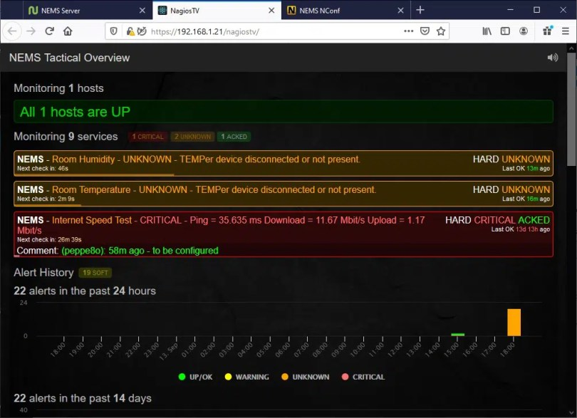 NEMS Tactical Overview home page