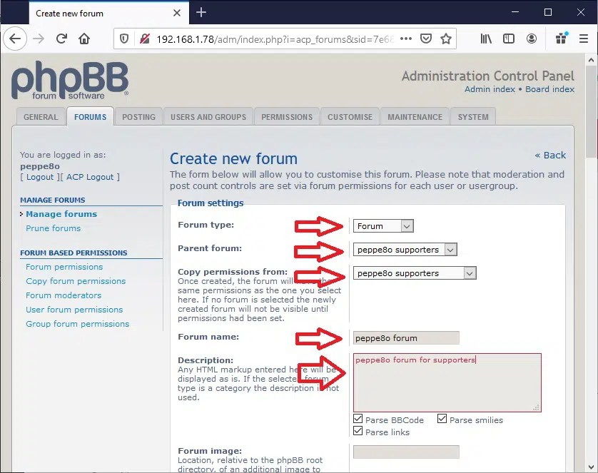 phpBB ACP new child forum_3