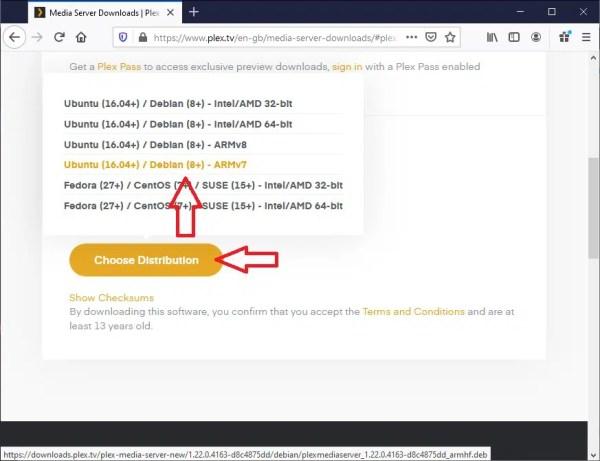 Get Plex Server installer link - 03