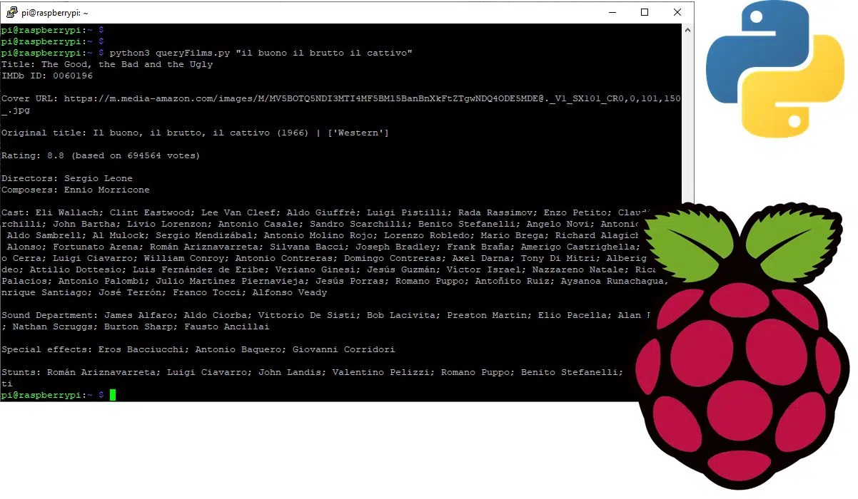 raspberry pi imdbpy featured image