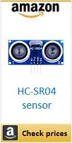 Amazon HC-SR04 ultrasonic sensor box