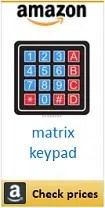 Amazon matrix keypad box