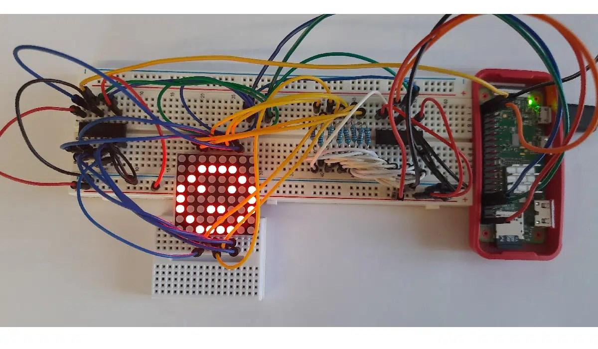 Raspberry PI 8x8 led matrix featured image