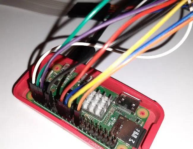 Raspberry pi 4x4 matrix keypad GPIO order