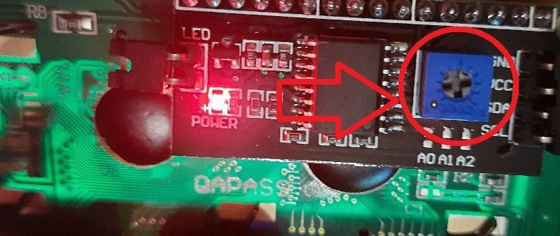i2c lcd display contrast potentiometer