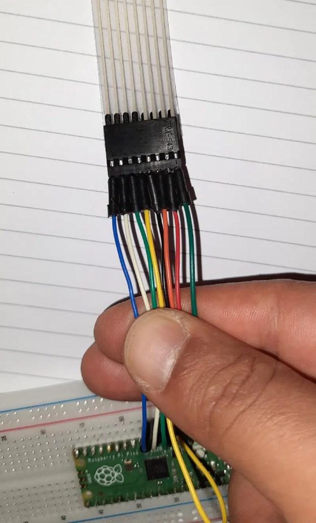 Raspberry pi pico 4x4 keypad wiring details 03