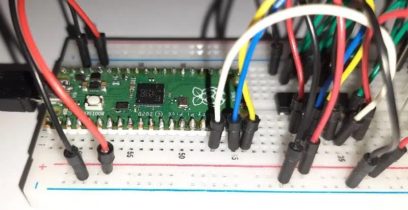 Raspberry PI Pico 74hc595 shift register details 05