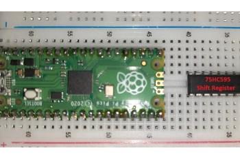 Raspberry PI Pico 74hc595 shift register featured image