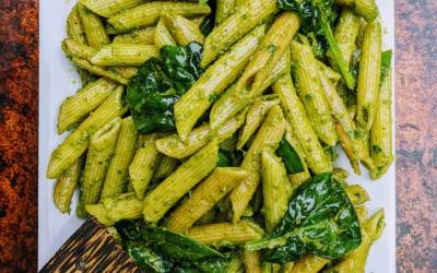 Best Ever Pesto!  Rainbow Chard Basil & Walnut