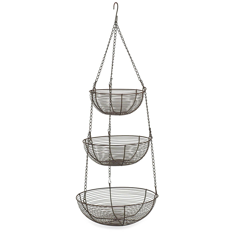 Bronze Wire Hanging Baskets