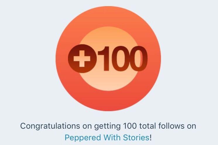 100 followers on blog