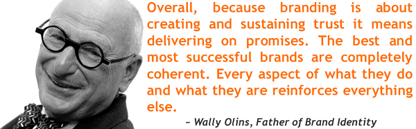 wally olins branding quote sml