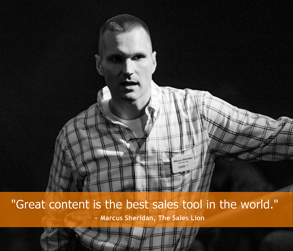 marcus sheridan content marketing quote