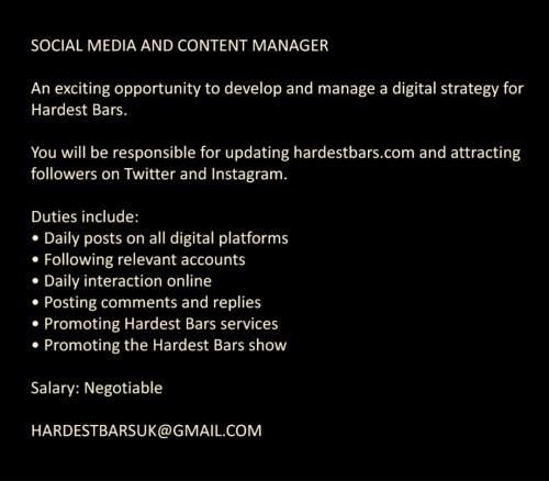 Job Vacancy: Social Media and Content Manager – Peppergrain