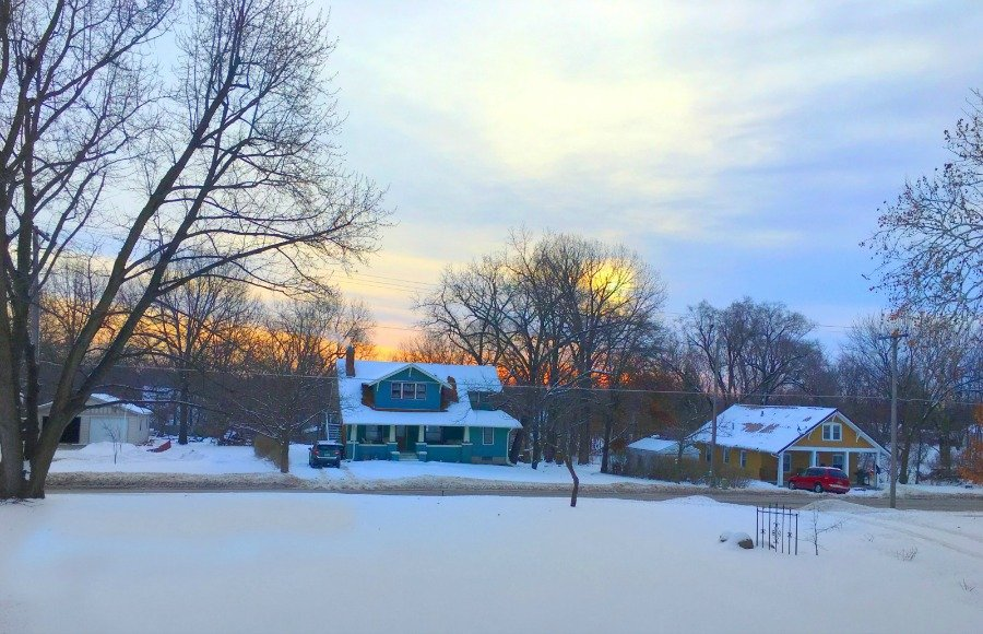 Winter in beautiful Iowa-peppermillbnb-mornings