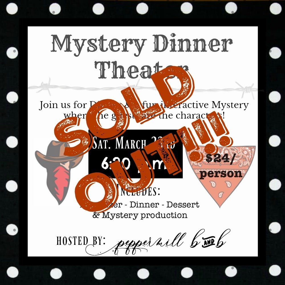 Spring Events 2019 B&B social hours-peppermillbnb-mystery