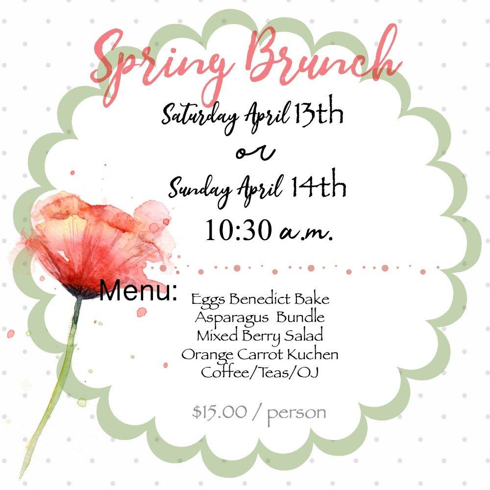 Spring Events 2019 B&B social hours-peppermillbnb-brunch