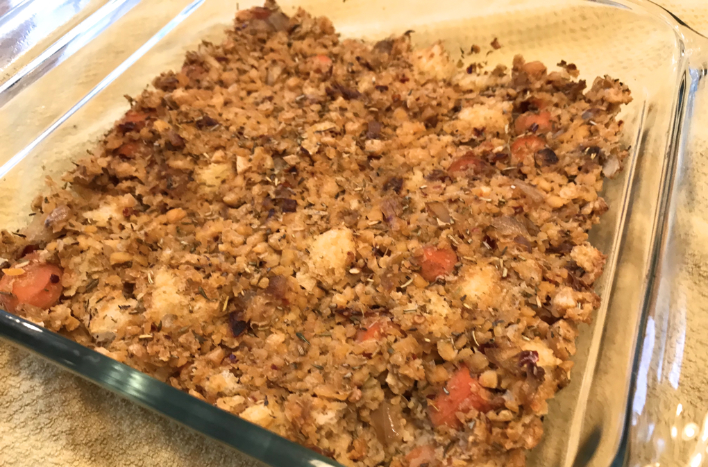 Photo of Protein Packed Vegan Thanksgiving Stuffing