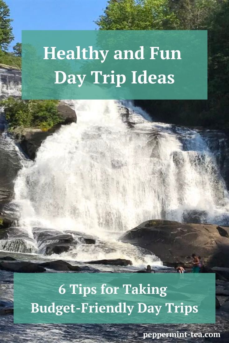 Photo of waterfall as an example of healthy and fun day trip ideas