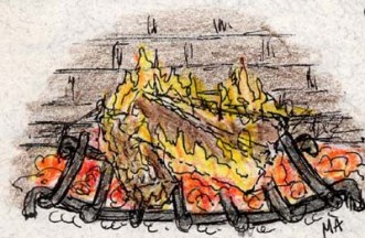 Drawing Fireplace