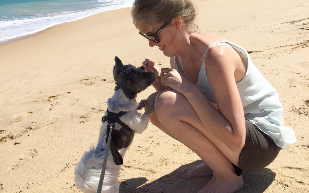 Peppermint Tree Creations - My Biz Life Journey - photo of owner Emma and her dog Pepper