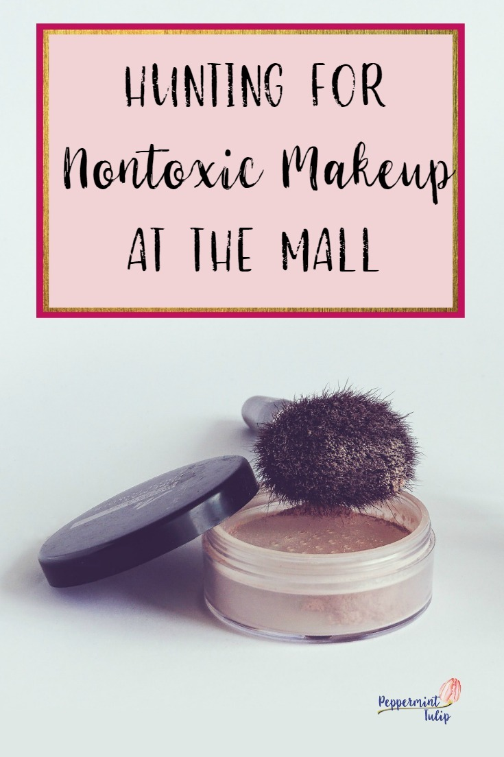 Information on finding nontoxic foundation at the mall. My story and some research I did.